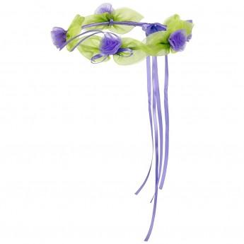 Wianek dla dziewczynki Zina fioletowa korona kwiatów, Souza!
