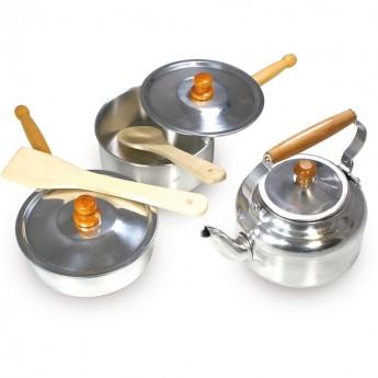 Vilac Garnki metalowe do zabawy, zabawa w gotowanie