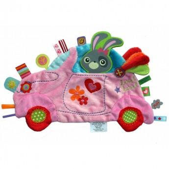 Holiday Kocyk przytulanka Samochód różowy, Label Label