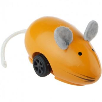 Vilac Uciekająca myszka pomarańczowa drewniana zabawka