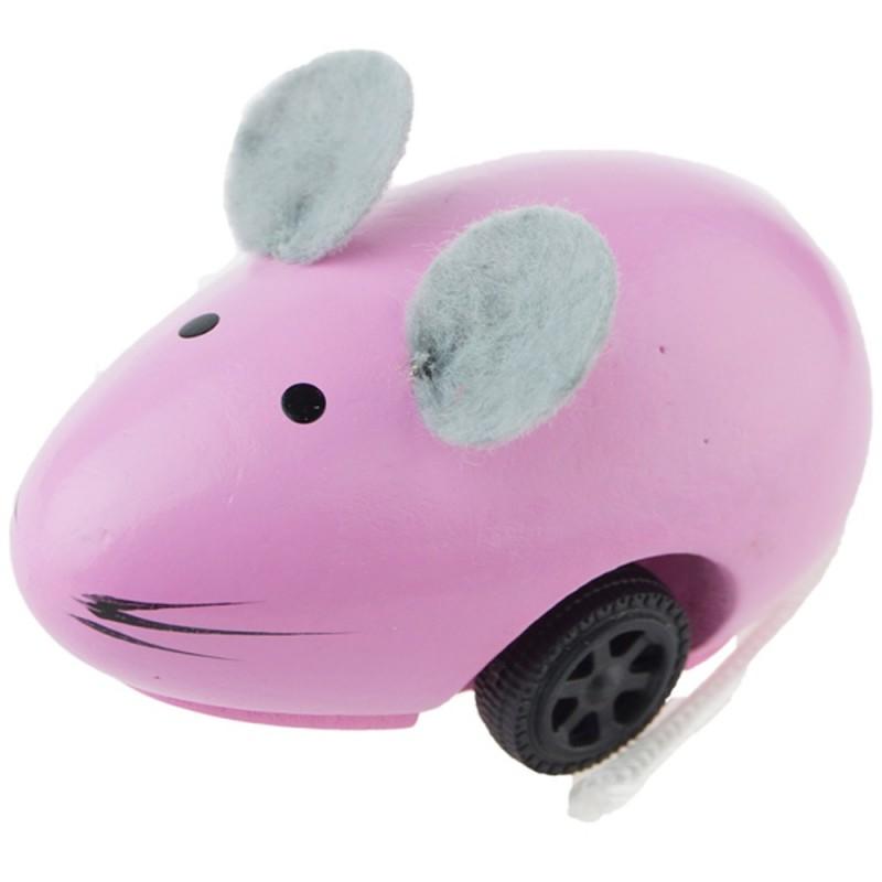 Vilac Uciekająca myszka różowa drewniana zabawka