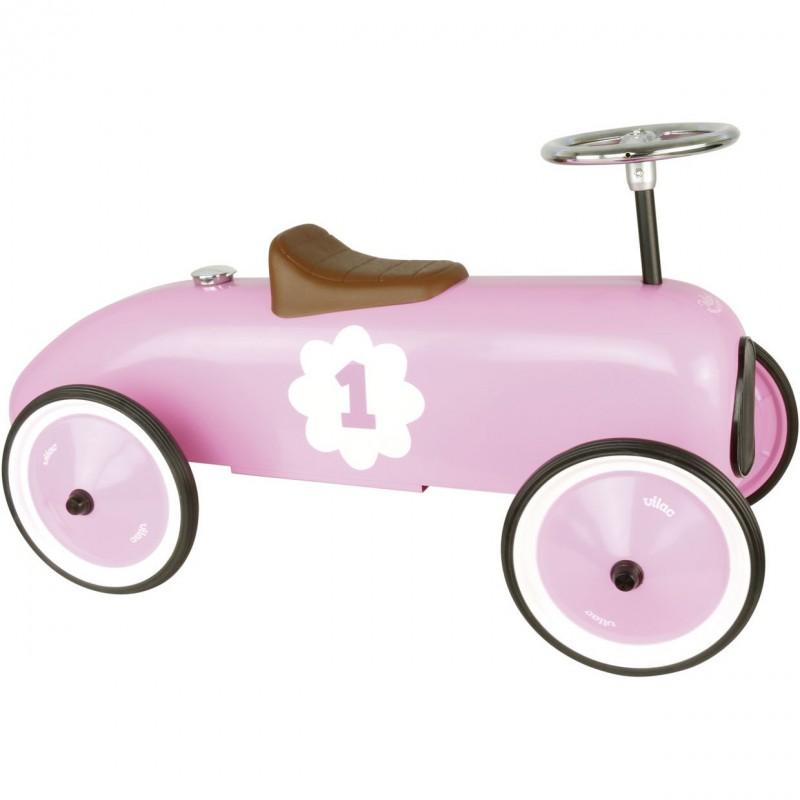 Vilac jeździk metalowy różowy dla dziewczynek od 18 mc | Dadum