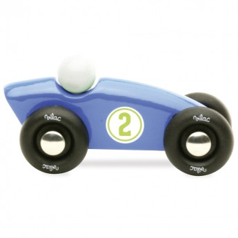 Wyścigówka nr 2 niebieska 10cm, Vilac