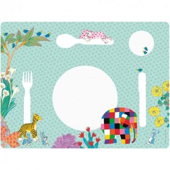 Podkładka na stół dla dzieci Słoń Elmer, Petit Jour