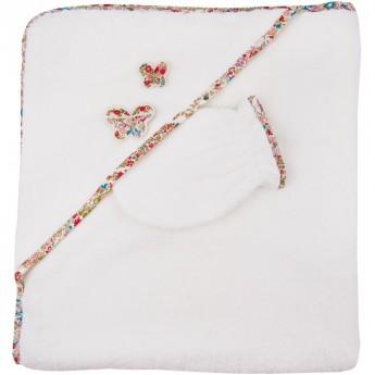 Ręcznik z kapturkiem 75x80cm Kwiaty, Trousselier