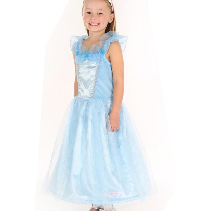 Saphira 5-7 lat strój niebieskiej księżniczki, Rose & Romeo