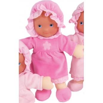 Lalka szmacianka dla niemowląt ciemnoróżowa, Petitcollin