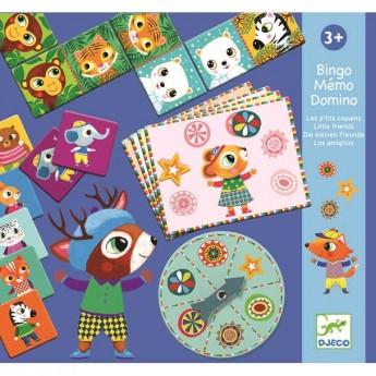 Memo Bingo Domino Przyjaciele, Djeco