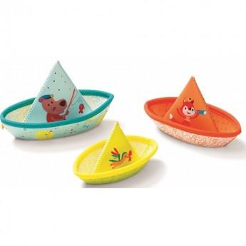 Zabawki do kąpieli 3 łódki z neoprenu, Lilliputiens