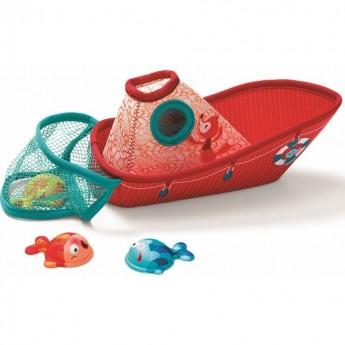 Łódka z rybkami zabawka do kąpieli dla niemowląt, Lilliputiens