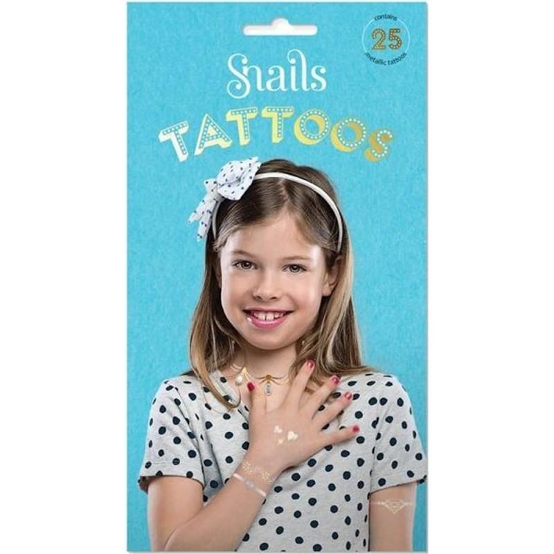 Tatuaże Metallic 25 sztuk, Snails