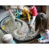 Cuppi zestaw zabawek do piasku z fioletową pilką, Quut