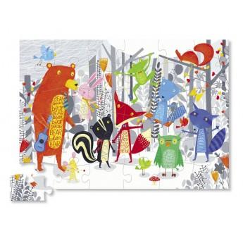 Miś i Przyjaciele gigantyczne puzzle 36 elementów w pudełku, Crocodile Creek