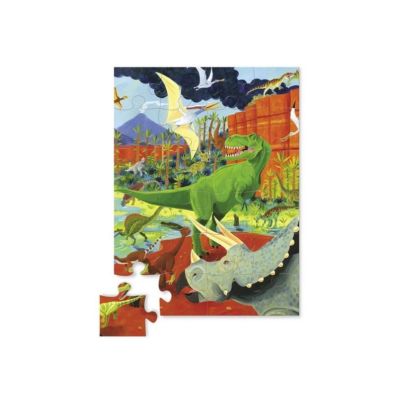 Dinozaury puzzle 24 elementy w pudełku, Crocodile Creek