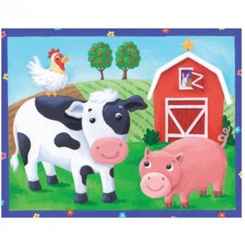 Na Farmie puzzle 12 elementów w piórniku, Mudpuppy