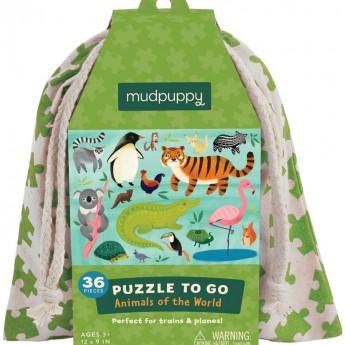Zwierzęta Świata puzzle 36 elementów w worku, Mudpuppy