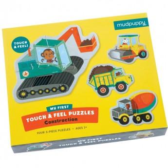 Budowa puzzle sensoryczne 4x3 elementy, Mudpuppy