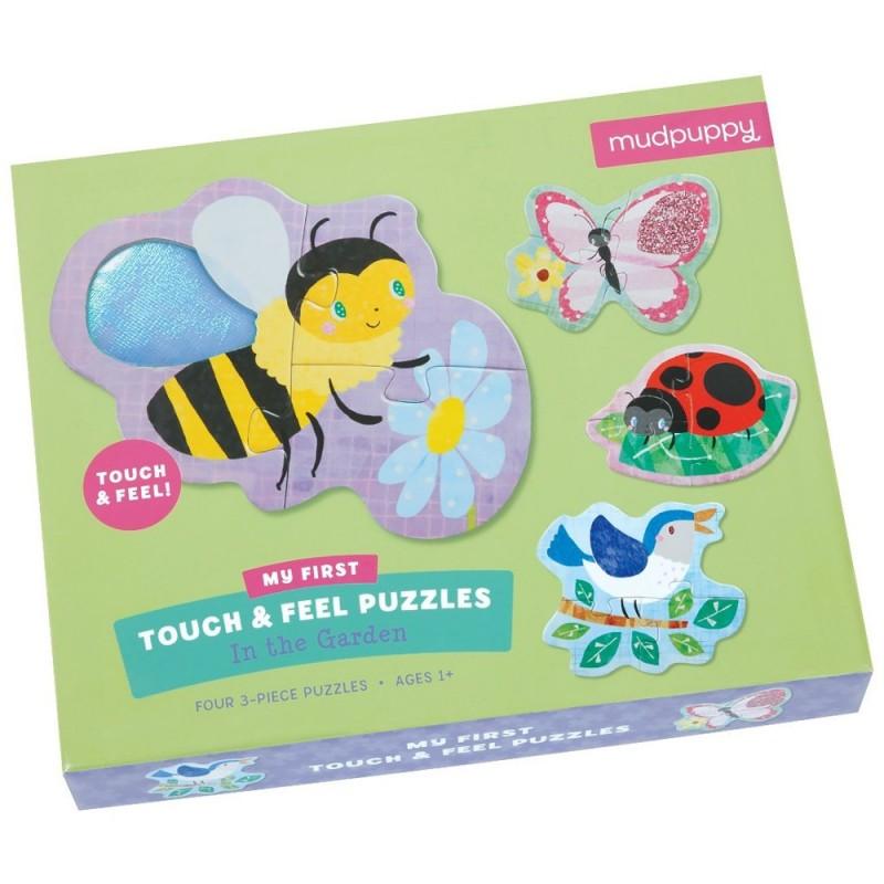 W Ogrodzie puzzle sensoryczne 4x3 elementy, Mudpuppy