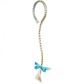Opaska do włosów Warkocz Lina z niebieską wstążką, Souza For Kids