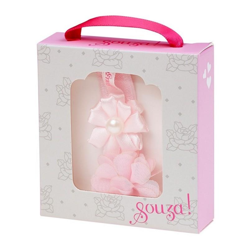 Opaska dla niemowlaka Melina różowa, Souza For Kids