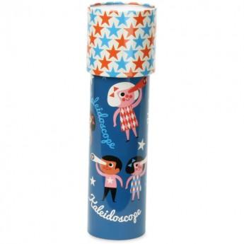 Vilac Kalejdoskop metalowy niebieski duży 18 cm dla dzieci od 3 lat