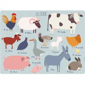 Podkładka na stół dla dzieci Farma, Petit Jour