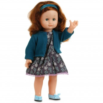Emilia 39cm z długimi włosami w stroju Malakoff, Petitcollin