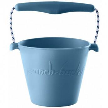 Wiaderko do piasku dla dzieci silikonowe błękitne Scrunch-Bucket