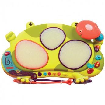 Perkusja elektroniczna dla 2 latka Ribbit-tat-tat, B.Toys