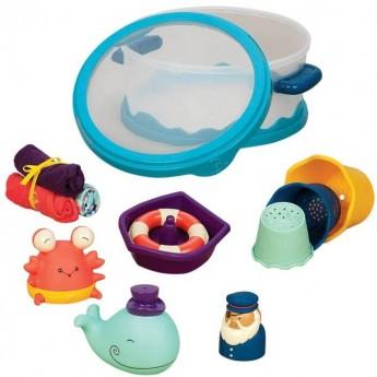 Wee B. Splashy zestaw zabawek do kąpieli dla niemowląt, B.Toys