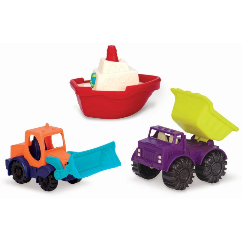 B.Toys Samochodziki do zabawy w kąpieli lub w piasku Loaders & Floaters