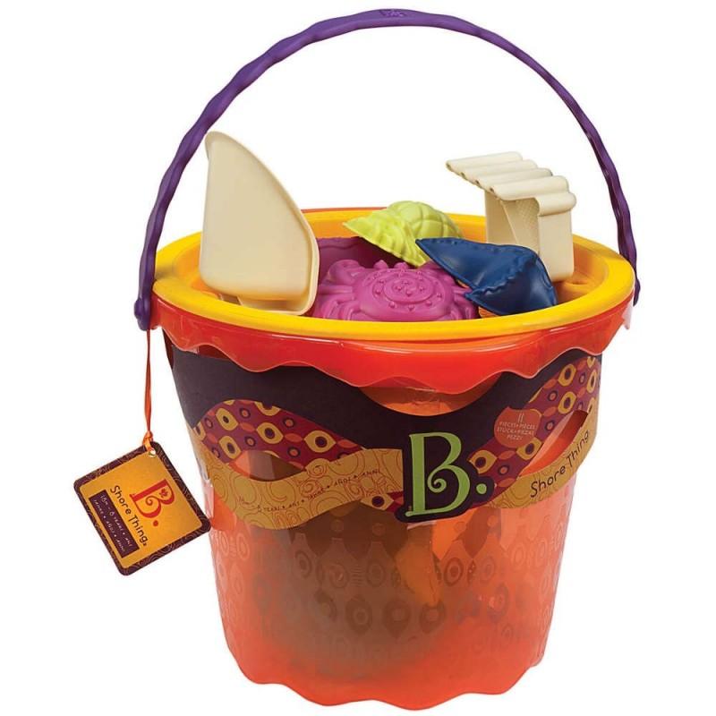 Zestaw plażowy Shore Thing pomarańczowy, B.Toys
