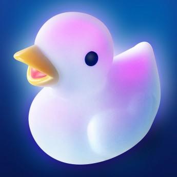 Świecąca kaczka Lumi Ducky zabawka do kąpieli +0m, Pabobo