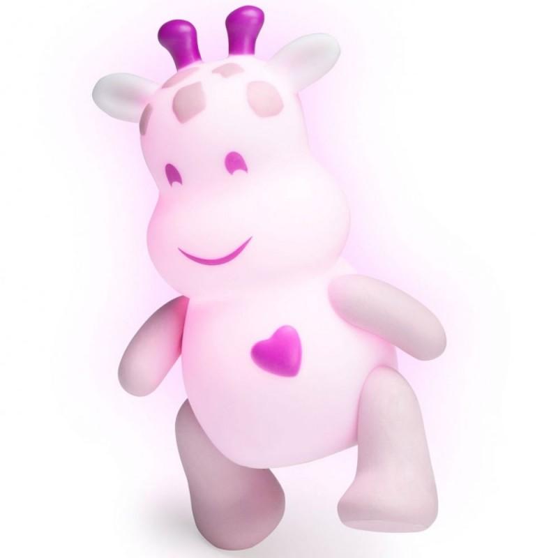 Zabawka święcąca Lumilove Savanoo różowa żyrafa +10m, Pabobo