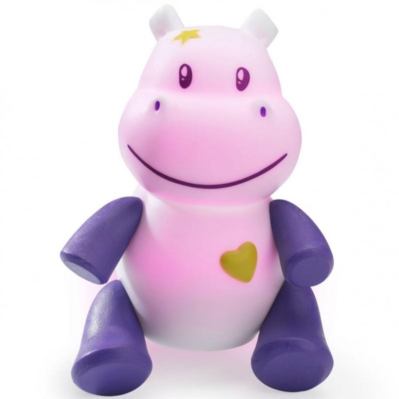 Zabawka święcąca Lumilove Savanoo fioletowy hippo +10m, Pabobo