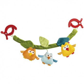Ptaszki łańcuszek do wózka dla niemowląt, Sigikid