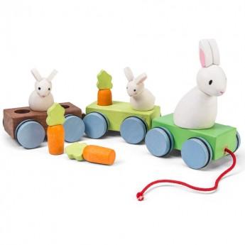 Pociąg z królikami do ciągnięcia, Le Toy Van