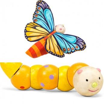 Zabawka manipulacyjna Gąsienica i Motyl, Le Toy Van
