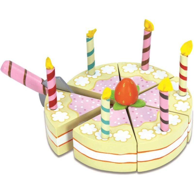 Tort urodzinowy drewniane jedzenie do krojenia, Le Toy Van