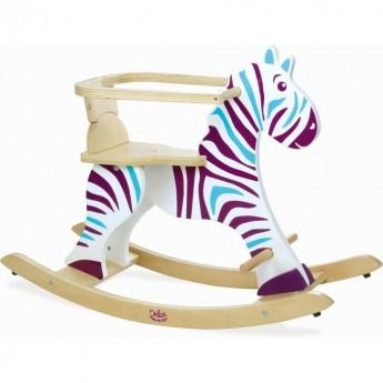 Zebra drewniana na biegunach -prezent na roczek, Vilac