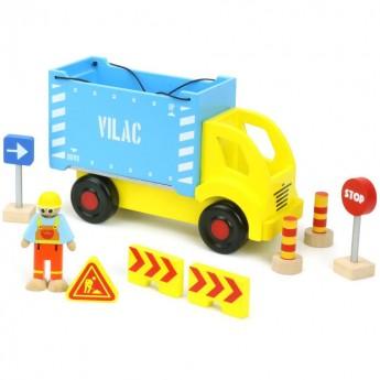 Tir z kontenerem i zestaw do budowy Vilacity, Vilac