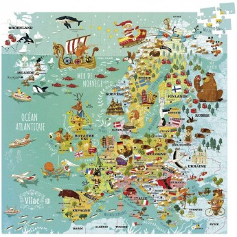 Puzzle Europa 300 elementów, Vilac