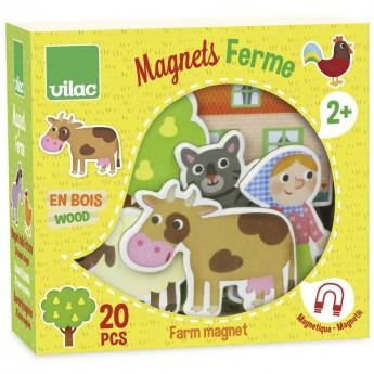 Magnesy drewniane Farma dla 2 latka, Vilac