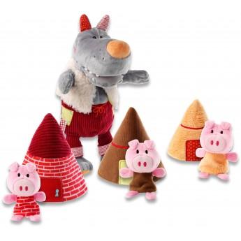 Bajki Wilk i trzy świnki pacynki na palec, Lilliputiens