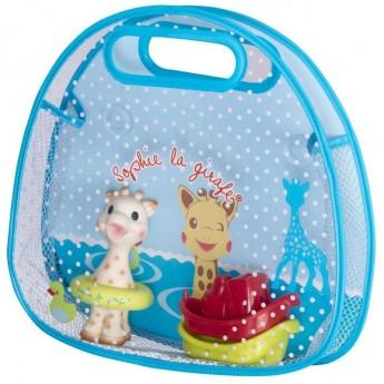 Żyrafa Sophie siatka z zabawkami do kąpieli, Vulli