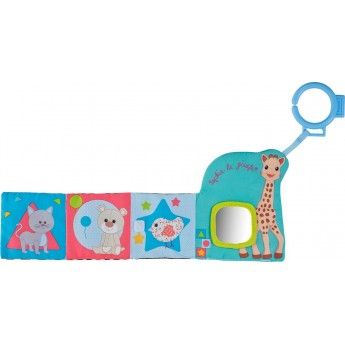 Żyrafa Sophie książka edukacyjna dla niemowląt do wózka