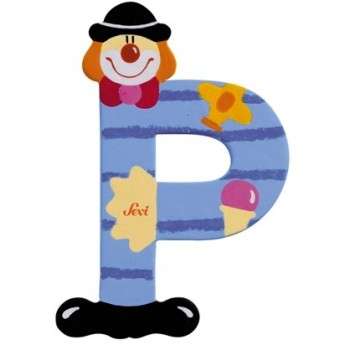 "Litera ""P"" z klaunem"