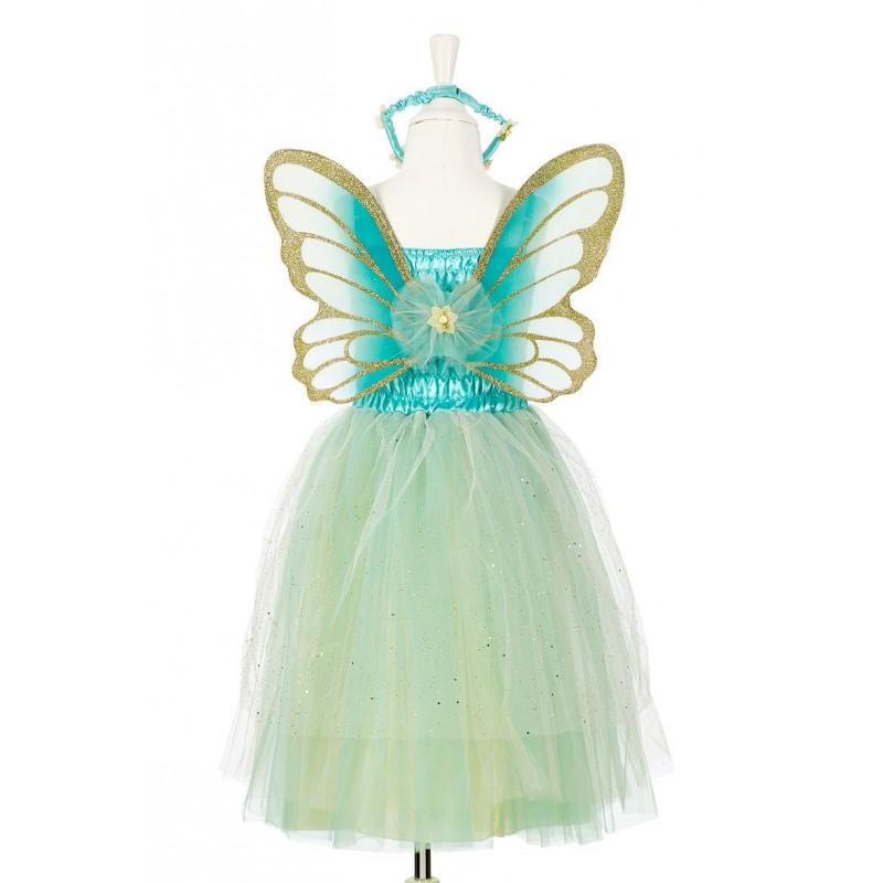 Strój wróżki dla dziewczynki Josiane sukienka, skrzydła, korona, Souza!