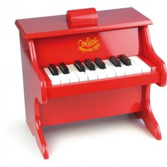 Vilac pianino czerwone drewniane dla dzieci, z nutami