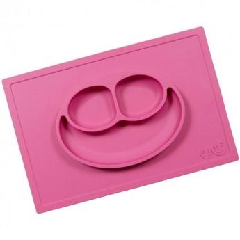 Happy Mat różowy silikonowy talerz 2w1, EZPZ